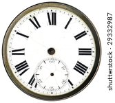 Antique Clock Face Without Hands