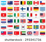collection of flags. vector... | Shutterstock .eps vector #293341736