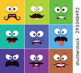 cartoon faces with emotions v.8 ...