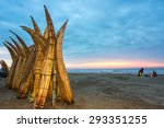 traditional peruvian small reed ... | Shutterstock . vector #293351255