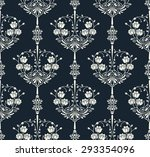 seamless pattern with flowers... | Shutterstock .eps vector #293354096