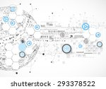 abstract technology globe... | Shutterstock .eps vector #293378522