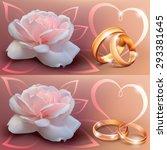 invitation card for wedding... | Shutterstock .eps vector #293381645