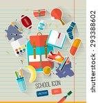 school vector illustration on... | Shutterstock .eps vector #293388602