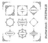 frames. decorative elements.... | Shutterstock .eps vector #293396618