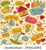 family life symbols  objects ... | Shutterstock . vector #293412092