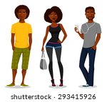 cartoon illustration of young... | Shutterstock .eps vector #293415926