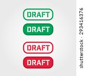 draft red and green stamp... | Shutterstock .eps vector #293416376