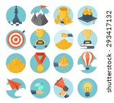 vector illustration set. flat... | Shutterstock .eps vector #293417132