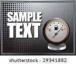silver horizontal gas gauge... | Shutterstock .eps vector #29341882