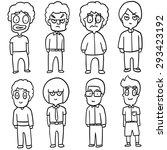 vector set of boys | Shutterstock .eps vector #293423192