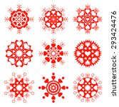 Snowflake  Heart View Icon Set...