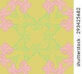 circular seamless  pattern of...   Shutterstock .eps vector #293425682