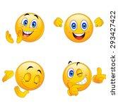 4 emoji smiley faces | Shutterstock .eps vector #293427422
