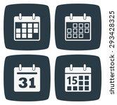 calendar icons | Shutterstock .eps vector #293428325