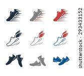 Sport Shoes  Icon Set Company...