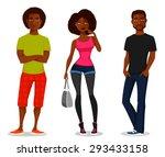 cartoon illustration of young...   Shutterstock .eps vector #293433158