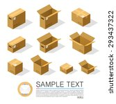 set of boxes to send isometric  ... | Shutterstock .eps vector #293437322