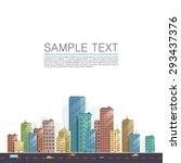 modern city landscape... | Shutterstock .eps vector #293437376