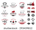 barbecue  seafood  steak house... | Shutterstock .eps vector #293439812