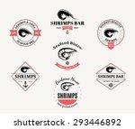 vector shrimp design elements ...   Shutterstock .eps vector #293446892