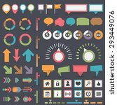 infographic elements collection ... | Shutterstock .eps vector #293449076