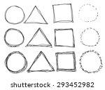 hand drawn circles  vector logo ... | Shutterstock .eps vector #293452982