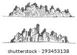 doodle of cityscape vector... | Shutterstock .eps vector #293453138