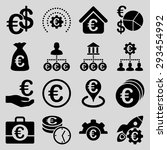 euro banking business and... | Shutterstock .eps vector #293454992