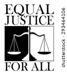 equal justice for all is an... | Shutterstock .eps vector #293464106
