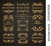 vector set of vintage elegant... | Shutterstock .eps vector #293469308