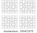 separate pieces of white jigsaw ... | Shutterstock .eps vector #293472575