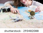 holidays and tourism concept.... | Shutterstock . vector #293482088