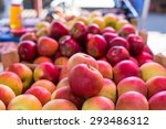 Fresh Apples In A Market