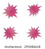 abstract splash star icon set   Shutterstock .eps vector #293486618