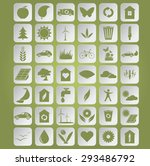 image of green ecological icons ... | Shutterstock . vector #293486792