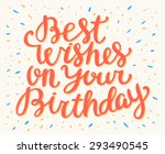 best wishes on your birthday.  | Shutterstock .eps vector #293490545