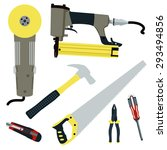 repair and construction tools... | Shutterstock .eps vector #293494856