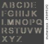 alphabet letters | Shutterstock .eps vector #293495192
