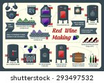 red wine making  infographic | Shutterstock .eps vector #293497532