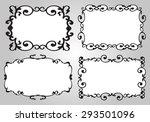 vintage calligraphy decorative...   Shutterstock .eps vector #293501096