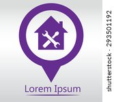 home repair icon  icon map pin. | Shutterstock .eps vector #293501192