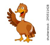 image of a cartoon greeting duck | Shutterstock . vector #293511428