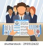 an illustration of curriculum... | Shutterstock .eps vector #293512622