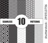 hexagon patterns set. vector... | Shutterstock .eps vector #293513756