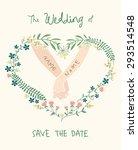 beautiful lovely floral heart... | Shutterstock .eps vector #293514548
