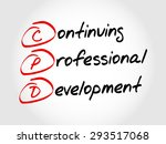 cpd   continuing professional... | Shutterstock .eps vector #293517068