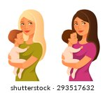 young mother holding her baby | Shutterstock .eps vector #293517632