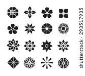 Flowers ornament icon,vector set