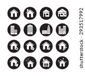 house vector  icon set | Shutterstock .eps vector #293517992